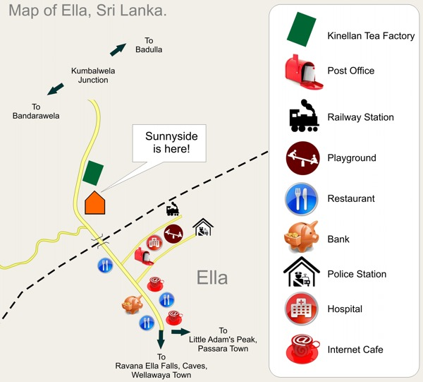 Ella Sri Lanka Map